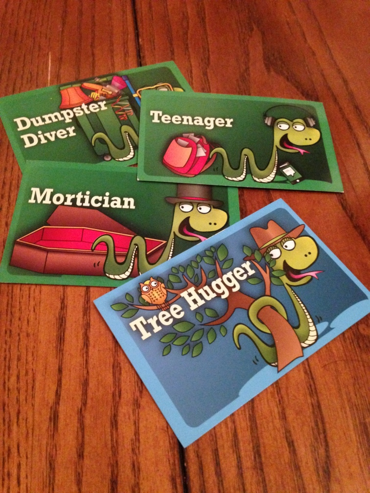 An example of some of the customer cards included in the game.