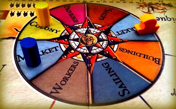 The rondel from Navegador, another Gerdts game